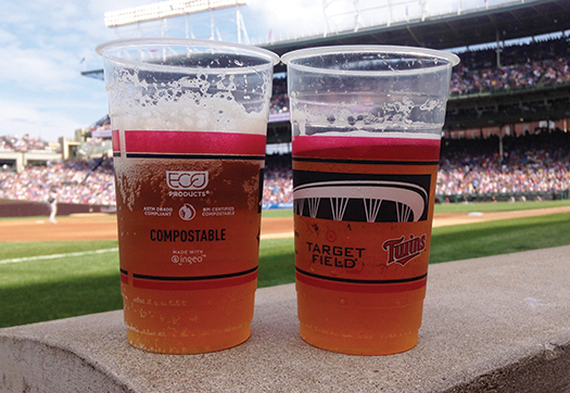 Minnesota Twins Compostable Cold Cups from Eco-Products