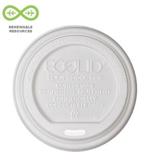 10-20 oz. Renewable & Compostable Hot Cup Lid