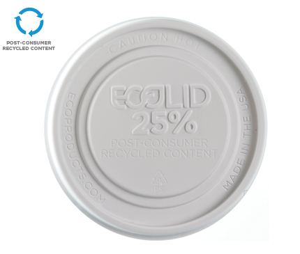 EcoLid® 25% Recycled Content Food Container Lid