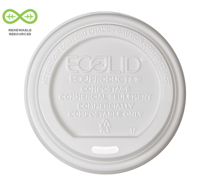 EcoLid® Renewable & Compostable Hot Cup Lid