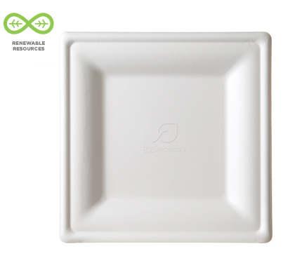 sc 1 st  Eco-Products & Square Sugarcane Plates