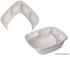 Regalia™ Renewable & Compostable 4-Compartment Bowl Insert, Fits 160oz Bowls