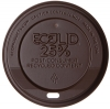 Ecolid® 25% Recycled Content Hot Cup Lid, Brown, Fits 10-20oz Cups