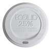 Large White EcoLid® 25% Post-Consumer Recycled Content Hot Cup Lid