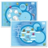 Kids Placemat, 100% Recycled, 30% Post-Consumer Waste, 10x14in, Sea Design