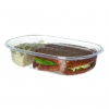 Renewable & Compostable Deli & Snack Containers - 32oz, 2-cmpt, Roval